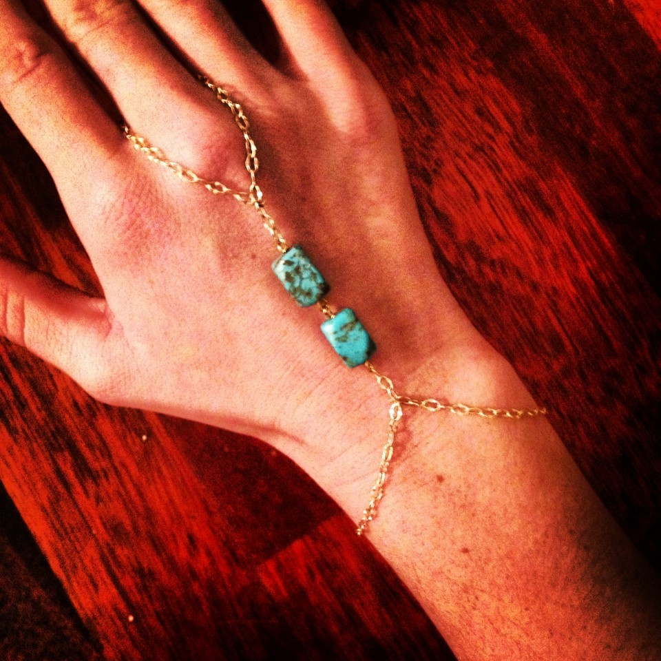 Hand made Gold Filled Turquoise Hand Jewelry